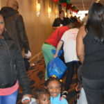 At Christmas toy party